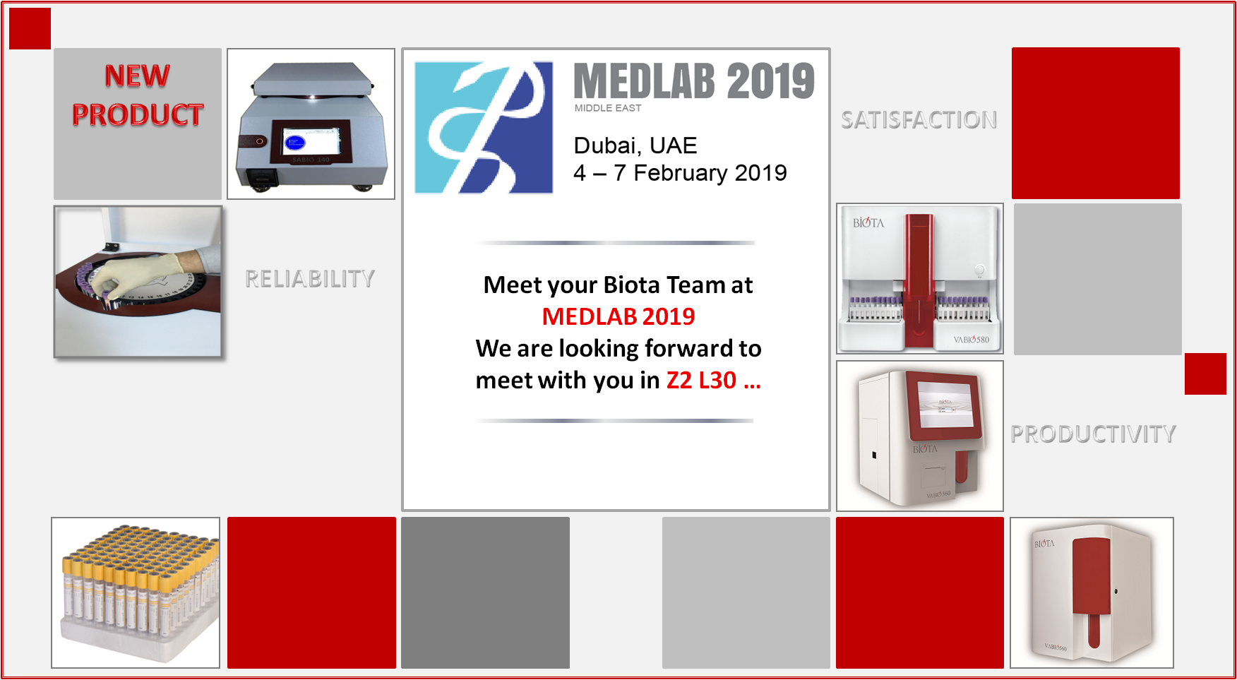 MEET YOUR BIOTA TEAM AT MEDLAB 2019...